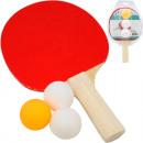 Großhandel Bälle & Schläger:Tischtennisschläger Standard & 3 Bälle