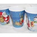 tasse de café Père Noël, bonhomme de neige wapitis