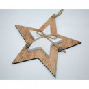 mayorista Casa y decoración: Percha de madera  de doble estrella 14,7x 1,8 cm co