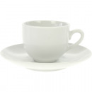Porcelain espresso cup with saucer white 105ml