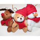 grossiste Figurines & Sclulptures: élan en peluche,  bonhomme de neige ou porter 8x9x9