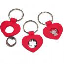 grossiste Cadeaux et papeterie: Keychain de coeur  7x4,5cm i silicone rouge
