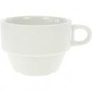 groothandel Koppen & bekers: Porseleinen kop  stapelbaar, wit 210 ml, 8,5 x 6 cm