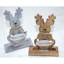 groothandel Speelgoed: Moose houten XXL  13x5x20,5cm 2 maal geassorteerd o