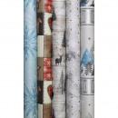 mayorista Regalos y papeleria: Kraft papel de  regalo Feliz Navidad 2m x 70cm,