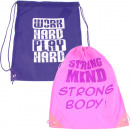 wholesale Gifts & Stationery: Sports bag GymBag 42x33cm Motif & 2 colors sor