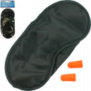 Travel sleeping set, mask 18x8cm + two earplugs