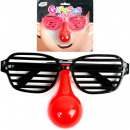 Glasses 15cm funny  with struts and nose a card