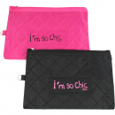 Cosmetic bag  quilted 23.5x16cm color assortment