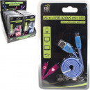 USB micro cable  with flashing LED light, 1 meter