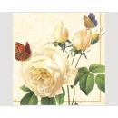 Napkins Premium 20x 33x33cm, 3 layers Rose anti