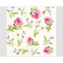 wholesale Houshold & Kitchen: Napkins Premium  20x 33x33cm, 3-ply roses