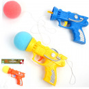 wholesale Toys: Pistol softball  with cord 17cm 3 assorted