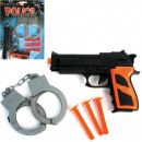 Pistols set police, 5 parts on card 29x13cm