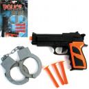 Pistols set  police, 5 parts on card 29x13cm