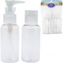 wholesale Toys: Travel cosmetic bottle set 2x80ml fillable
