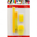 Writing Set 6 Pieces 4 Pencils, Erasers & Poin