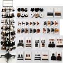 mayorista Casa y cocina: Gama de moda capilar 528 piezas en metal Display