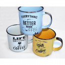 Coffee mug enamel-style 270ml ceramic