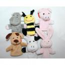 wholesale Toys: Finger puppet  9x8x6cm, 6  different animals ...