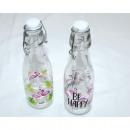 groothandel Overigen: Glazen fles  Flamingo 20x6cm strijken sluiting