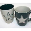 Kaffeebecher  Star-Design 350ml, 2-fach sortiert