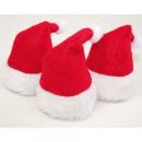 ingrosso Cappelli: Santa hat set di 3  per bottiglia-deco al cappello