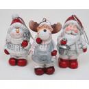 groothandel Home & Living: Hanger Moose,  Santa en  sneeuw-man 7x4,5cm ...