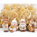 wholesale Gifts & Stationery: Ceramic figure  7x5cm in printed organza bag, 4-