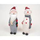 groothandel Home & Living: Kerstman en  Schnemann XL  13x5x4cm, zeer ...
