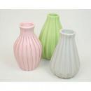 grossiste Maison et habitat: Vase 12x5cm orné  de rayures, couleurs assorti