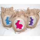 Great jute bag  with bottom  20x18cm, with felt ...