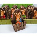 Großhandel Figuren & Skulpturen: Hase in toller  Geschenkverpackung 9x6x4cm