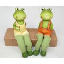 Großhandel Figuren & Skulpturen: Frosch 17x9x5cm  als Kantensitzer, 2-fach sortiert