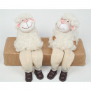 wholesale Toys: Sheep with cuddly  fur as edge seat 16x9x6cm