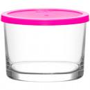 Contenitore in vetro con coperchio 240ml, DM: 8,5