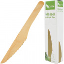 Party cutlery knife 20s wooden 16cm
