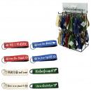 Großhandel Schlüsselanhänger: Schlüsselanhänger Filz 14x3cm 4 Farb. + 8 Sprüche