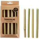 Öko Trinkhalm Bambus 4er Set ca. 16cm