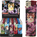 Lighter electric  cats and dogs 8x2cm in Dis