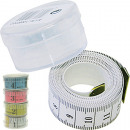 Measuring tape 150cm colored in transparent box 5x