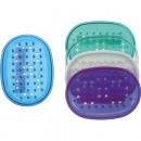 Großhandel Badmöbel & Accessoires: Seifenablage oval aus Gummi 12x8cm