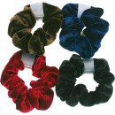 wholesale Hair Accessories: Haarzopfband  velvet 9.5cm color assorted