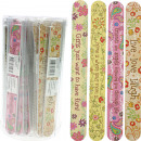 wholesale Drugstore & Beauty: Nail file Soft  foamed 18cm in box with sayings