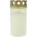 Grablicht burner  Nr.3 white with gold cover 11x5,5