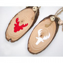 wholesale Dolls &Plush: Wooden decora with  elk decorated 4.5x10.5cm, with
