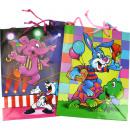 grossiste Cadeaux et papeterie: Sac cadeau enfants 23x18x10cm 5 motifs