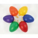 Pasen eieren Set van 6 met hanger, 6 kleuren