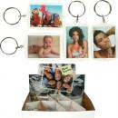 grossiste Images et cadres: Porte-clés cadres  photo acrylique 5,5x3,5cm