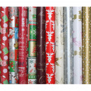 wholesale Gifts & Stationery: Gift paper roll 2m  x 70cm 7-9 Christmas motif.